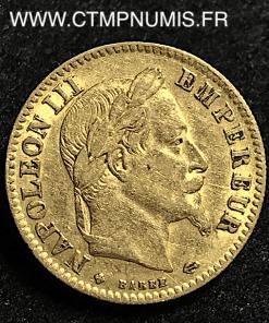 10 FRANCS OR NAPOLEON III 1864 STRASBOURG
