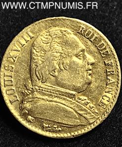 20 FRANCS LOUIS XVIII BUSTE HABILLE 1814 PARIS