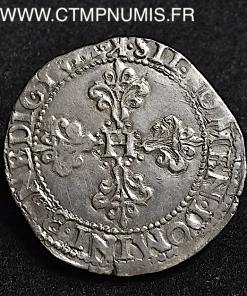 HENRI III FRANC ARGENT COL PLAT 1584 BORDEAUX