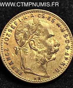 HONGRIE 20 FRANCS 8 FORINT OR 1890 KB