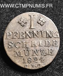 ALLEMAGNE BRUNSWICK 1 PFENNIG 1824