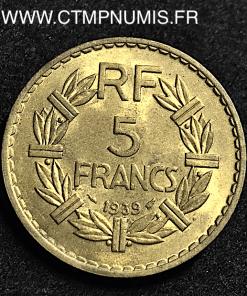 5 FRANCS LAVRILLIER BRONZE ALUMINIUM 1939