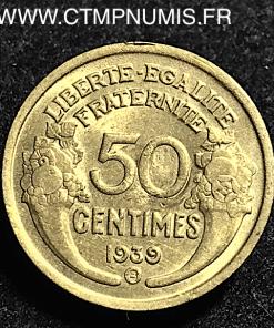 50 CENTIMES MORLON 1939 B BRUXELLES SUP