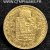 HONGRIE 20 FRANCS 8 FORINT OR 1892 KB