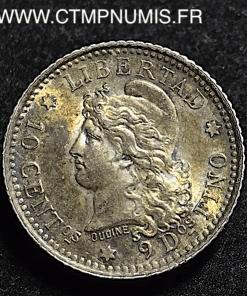ARGENTINE 10 CENTIMOS ARGENT 1882 SPL