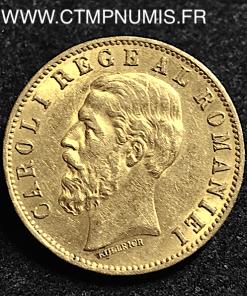 ROUMANIE 20 LEI OR CAROL I° 1883 B