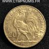 20 FRANCS OR COQ 1900