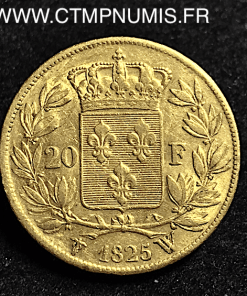 20 FRANCS OR CHARLES X 1825 W LILLE
