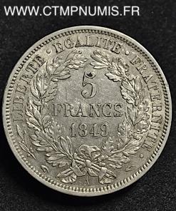 5 FRANCS ARGENT CERES 1849 A MAIN ET MAIN