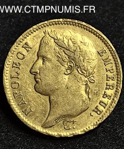 40 FRANCS OR NAPOLEON 1808 H LA ROCHELLE