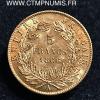 5 FRANCS OR NAPOLEON TETE LAUREE 1866 PARIS