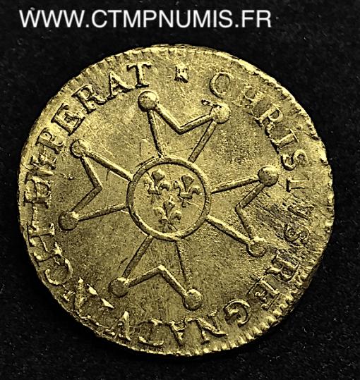 LOUIS XV LOUIS D'OR CROIX 1718 M TOULOUSE