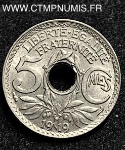 5 CENTIMES LINDAUER GRAND MODULE 1919 SUP+