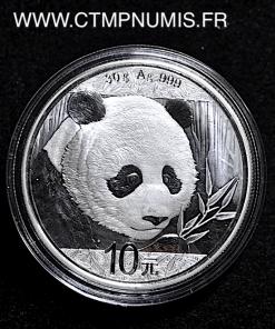CHINE 10 YUAN 30 GR ARGENT FIN PANDA 2018