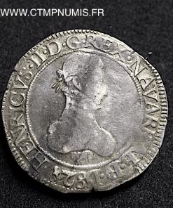 BEARN FRANC ARGENT HENRI II 1582 PAU
