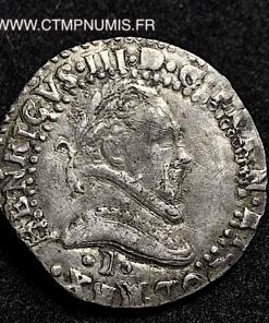 HENRI III 1/2 FRANC AU COL PLAT 1581 I LIMOGES