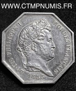 JETON LOUIS PHILIPPE NOTAIRES PONTOISE 1833