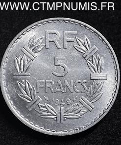 5 FRANCS LAVRILLIER ALUMINIUM 1949 SPL