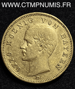 ALLEMAGNE BAVIERE 20 MARK OR OTTO 1895 D