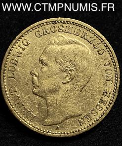 ALLEMAGNE HESSE 20 MARK OR 1898