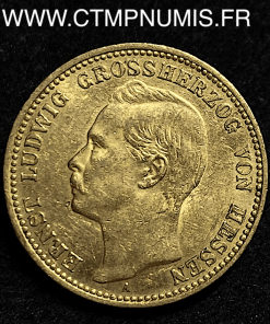 ALLEMAGNE HESSE 20 MARK OR 1906 A SUP