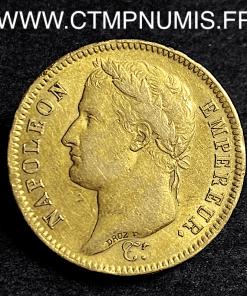 40 FRANCS OR NAPOLEON EMPIRE 1810 W LILLE