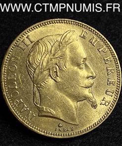 50 FRANCS OR NAPOLEON III TETE NUE 1864 PARIS