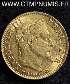10 FRANCS OR NAPOLEON III 1865 A PARIS