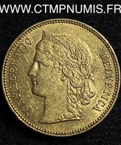 SUISSE HELVETIA 20 FRANCS OR 1894 B BERNE