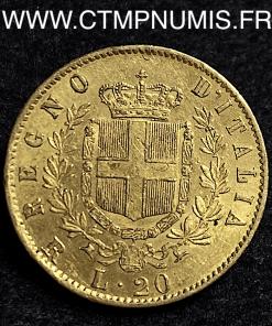 ITALIE 20 LIRE OR VICTOR EMMANUEL II 1878 R ROME