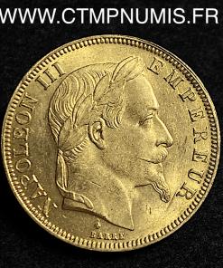 50 FRANCS OR NAPOLEON III 1867 STRASBOURG