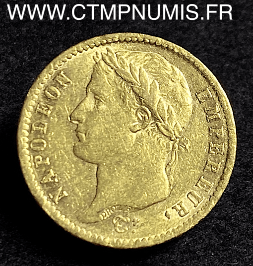 20 FRANCS OR NAPOLEON I° EMPIRE 1811 A PARIS