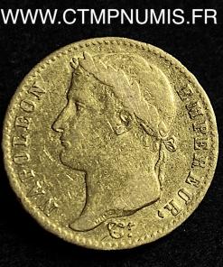 20 FRANCS OR NAPOLEON I° 1815 A PARIS