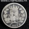 2 FRANCS ARGENT CHARLES X 1829 M TOULOUSE