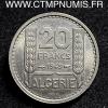 ALGERIE ESSAI 20 FRANCS CUPRO-NICKEL 1949