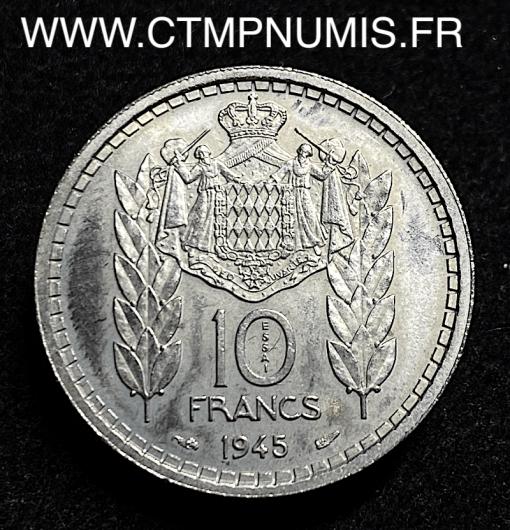 MONACO ESSAI 10 FRANCS LOUIS II 1945 SPL