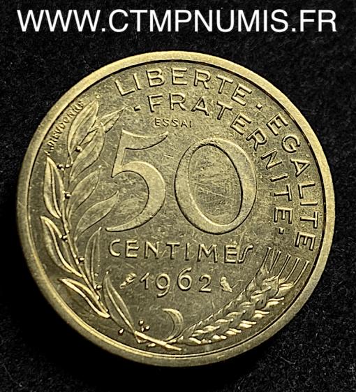50 CENTIMES ESSAI MARIANNE 1962 SPL