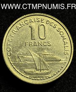 DJIBOUTI ESSAI 10 FRANCS COTE DES SOMALIS