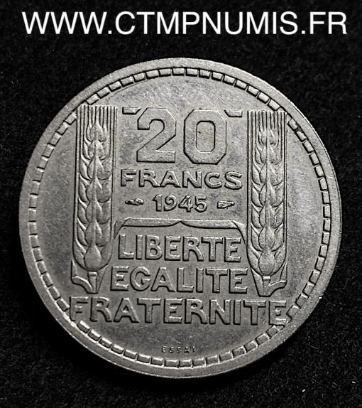 ESSAI 20 FRANCS TURIN CUPRO NICKEL 1945 SUP+