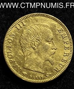 5 FRANCS OR NAPOLEON III TETE NUE 1859 PARIS