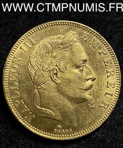 50 FRANCS OR NAPOLEON III 1864 A PARIS