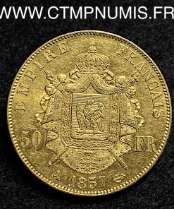 50 FRANCS NAPOLEON III TETE NUE 1857 A PARIS