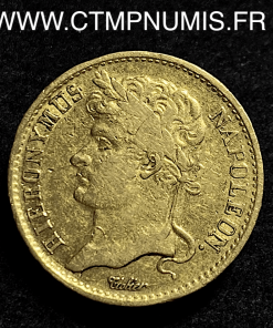 WESTPHALIE 20 FRANK JEROME NAPOLEON 1809