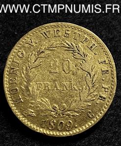 WESTPHALIE 20 FRANK JEROME NAPOLEON 1809 C