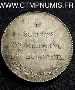 JETON ARGENT MEDECINE BORDEAUX HIPPOCRATE