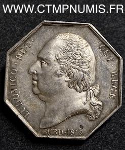 JETON LOUIS XVIII LE PONT DE BORDEAUX 1819
