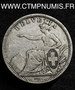 SUISSE 1 FRANC ARGENT HELVETIA 1861 B BERNE