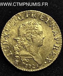 LOUIS XV LOUIS D'OR MIRLITON 1725 TOULOUSE