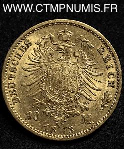 ALLEMAGNE SAXE 20 MARK OR ALBERT 1894 E