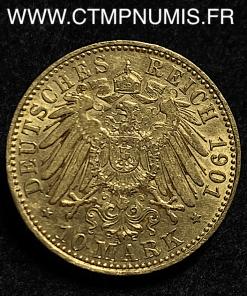 ALLEMAGNE ANHALT 10 MARK OR FREDERICK 1901